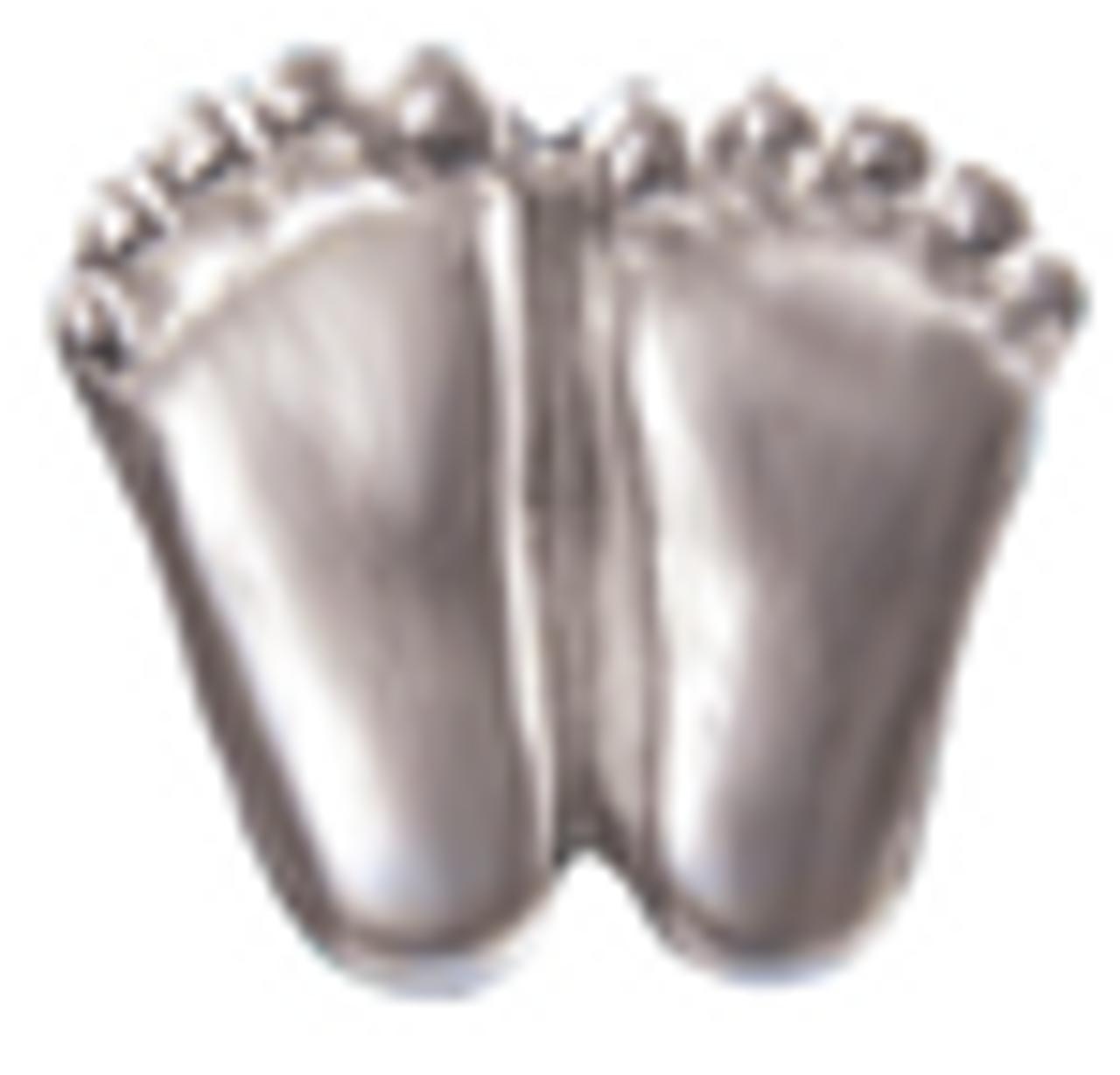 Silver finish precious Feet Lapel Pin