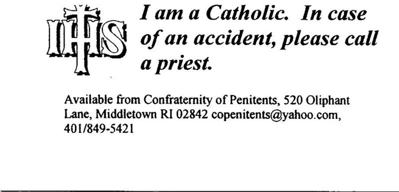 I Am a Catholic Wallet Cards