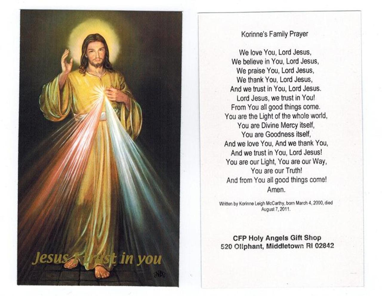 Korinne's Family Prayer