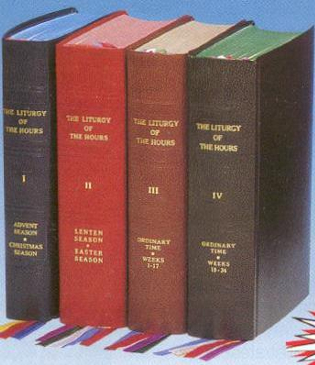 Four Volume Set of Liturgy of the Hours -  Standard Print--Full set or individual volumes -- imitation leather binding