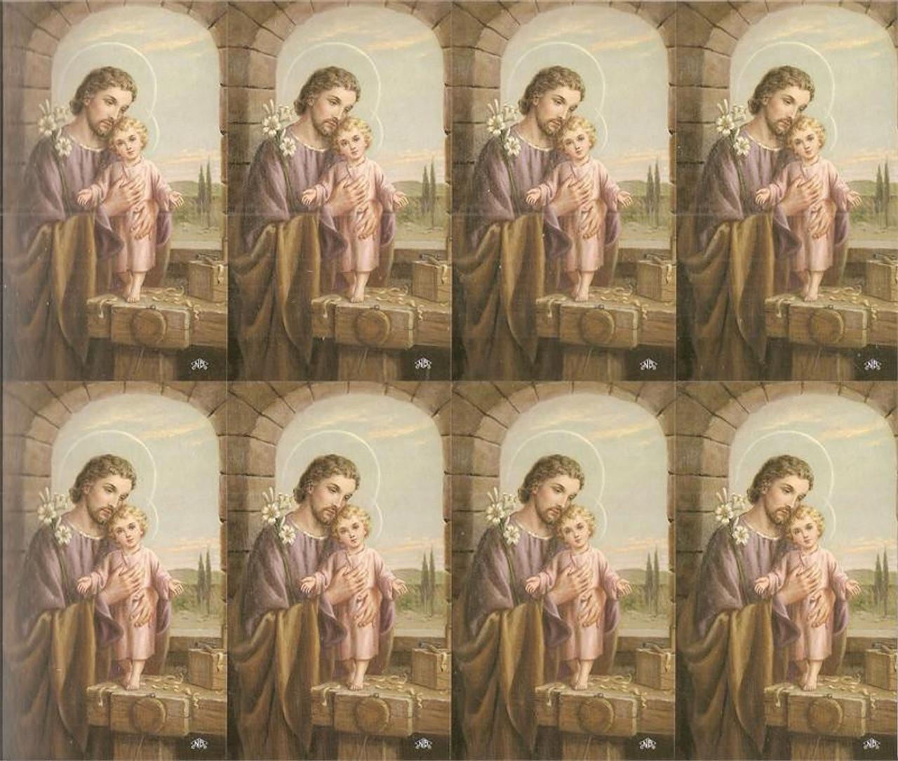 Custom Print St Joseph Custom Prayer Card