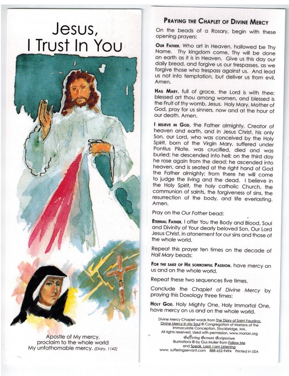 Divine Mercy Bookmark