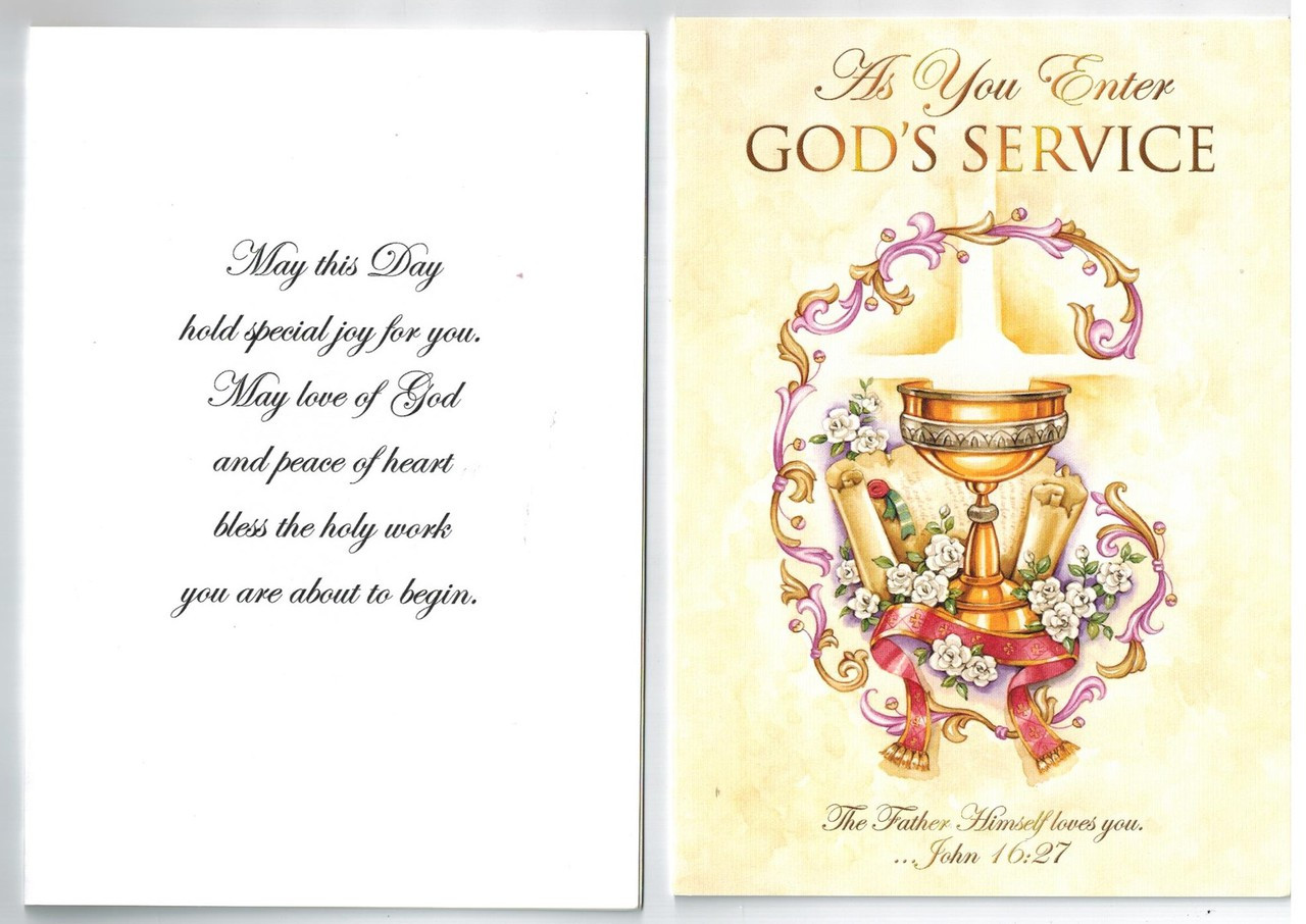 as you enter God's service
