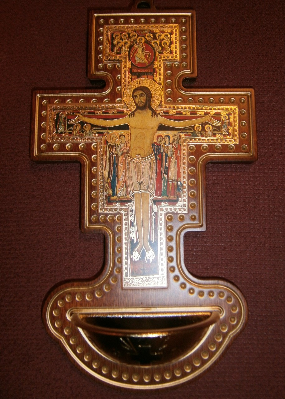 San Damiano Holy Water Font