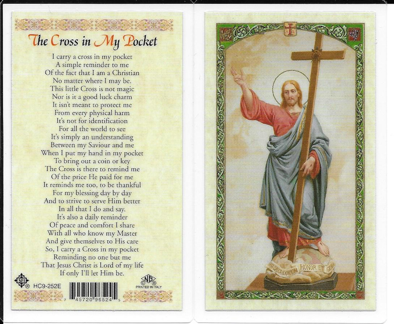 Laminated Prayer Card to The Cross in My Pocket