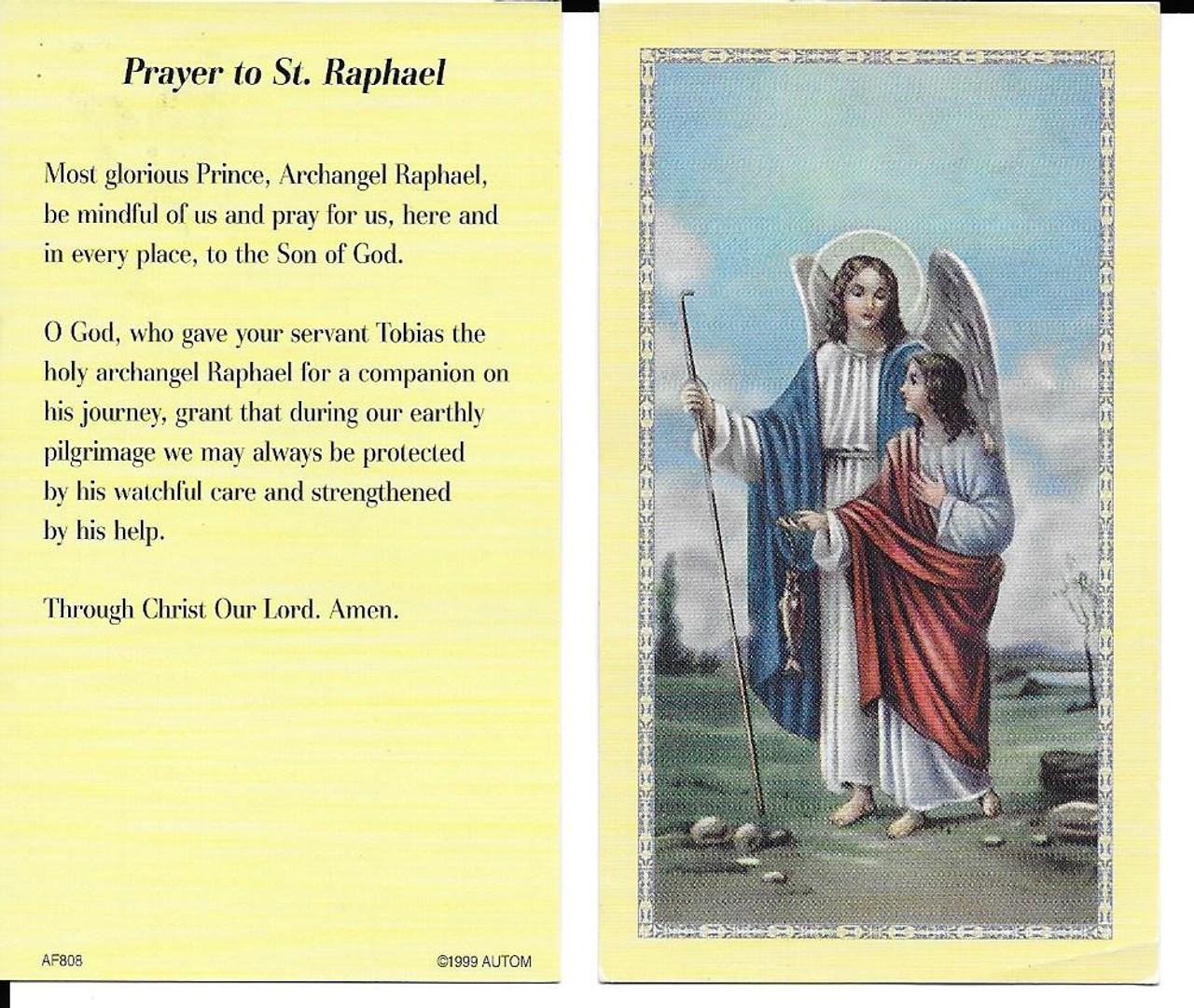 Novena to Saint Raphael Prayer Card