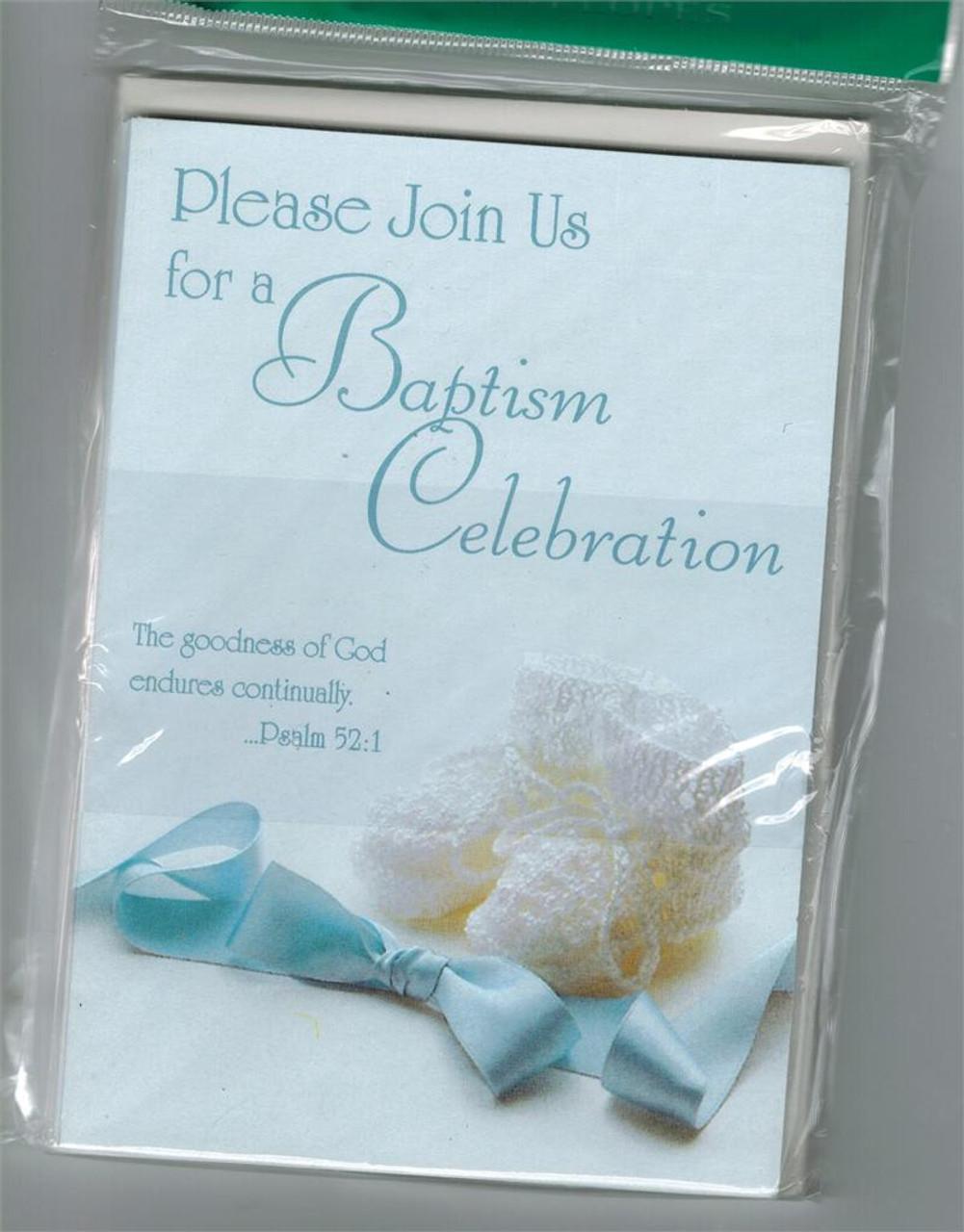 Baptism Celebration Invitation for a Boy