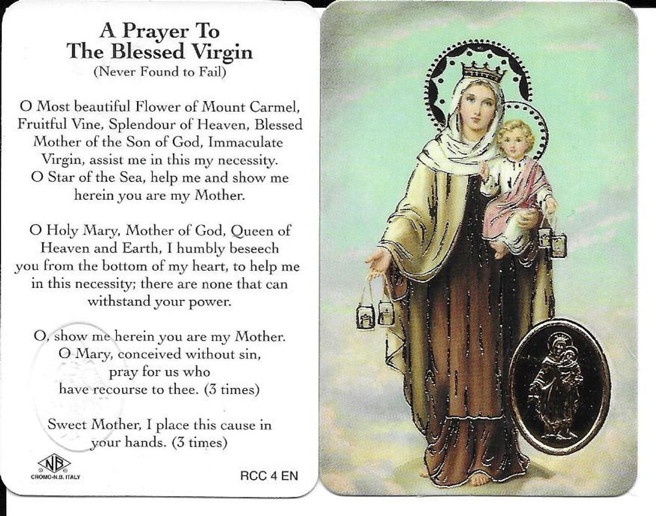 Prayer to Our Lady of Mount Carmel (Never to Fail Prayer)
