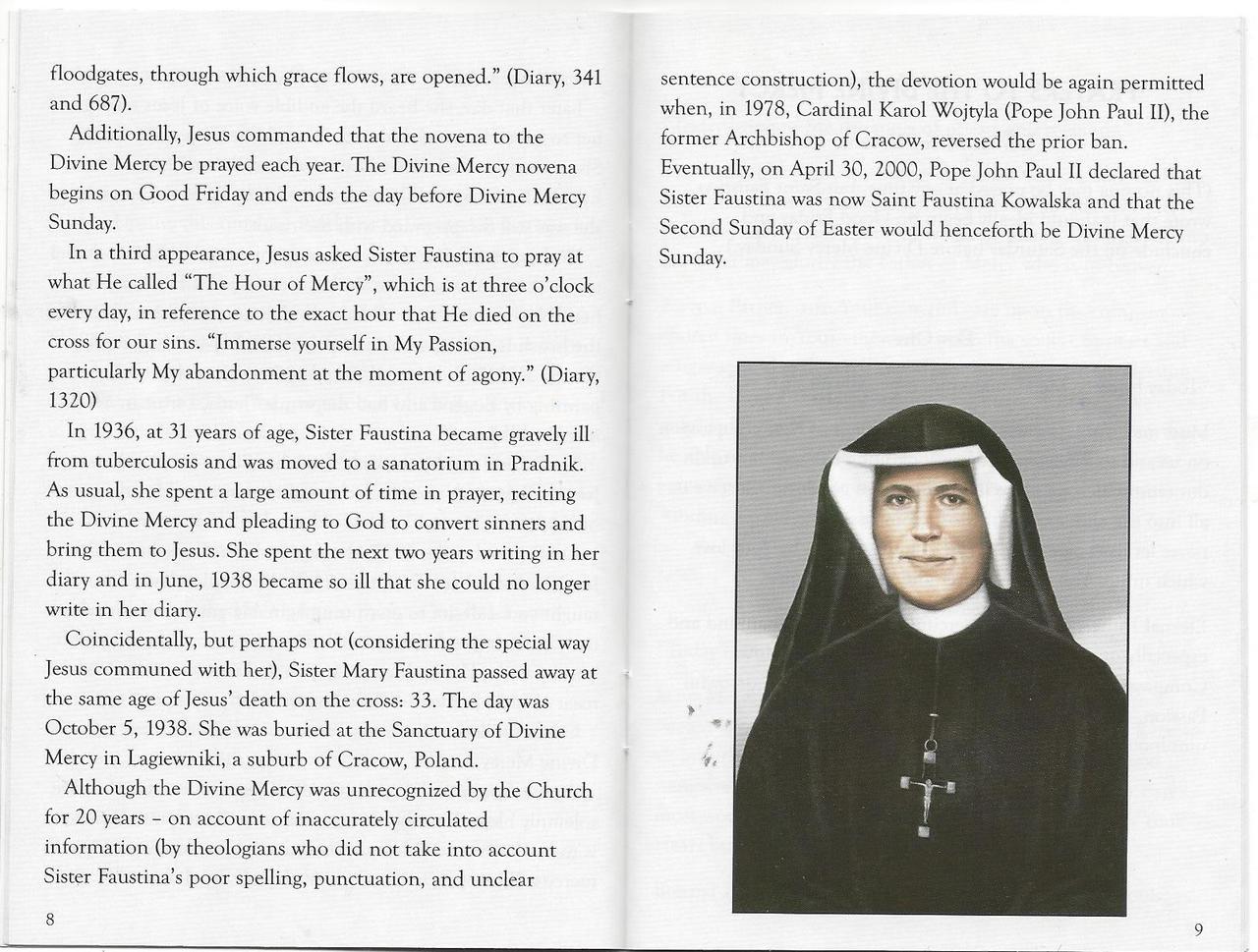 Divine Mercy Patron Saints