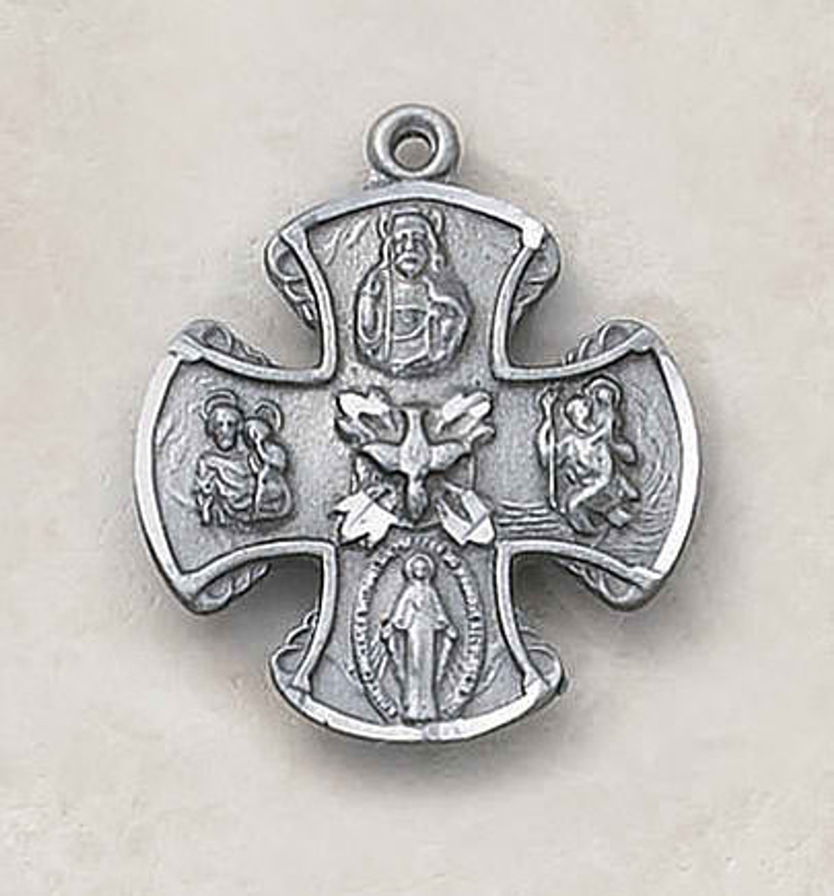 Four Way Medal With Holy Spirit