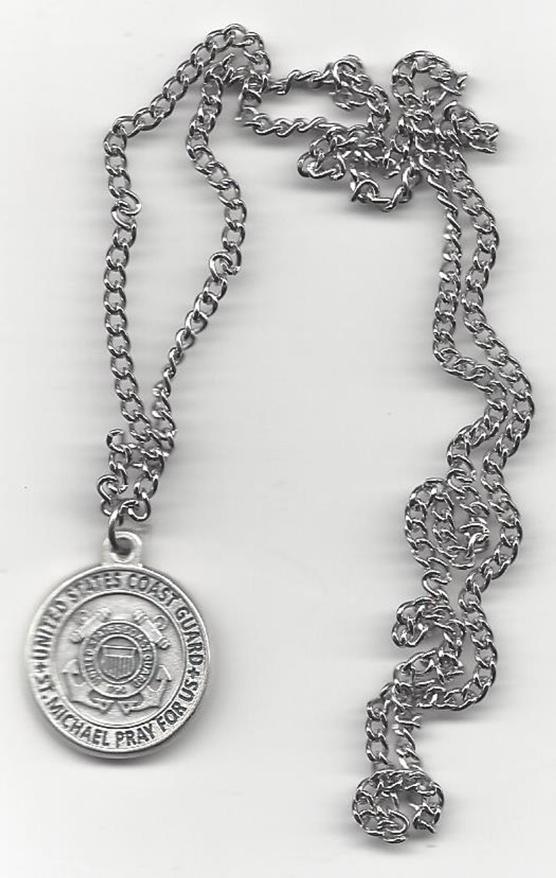 Coast Guard Medal On Chain