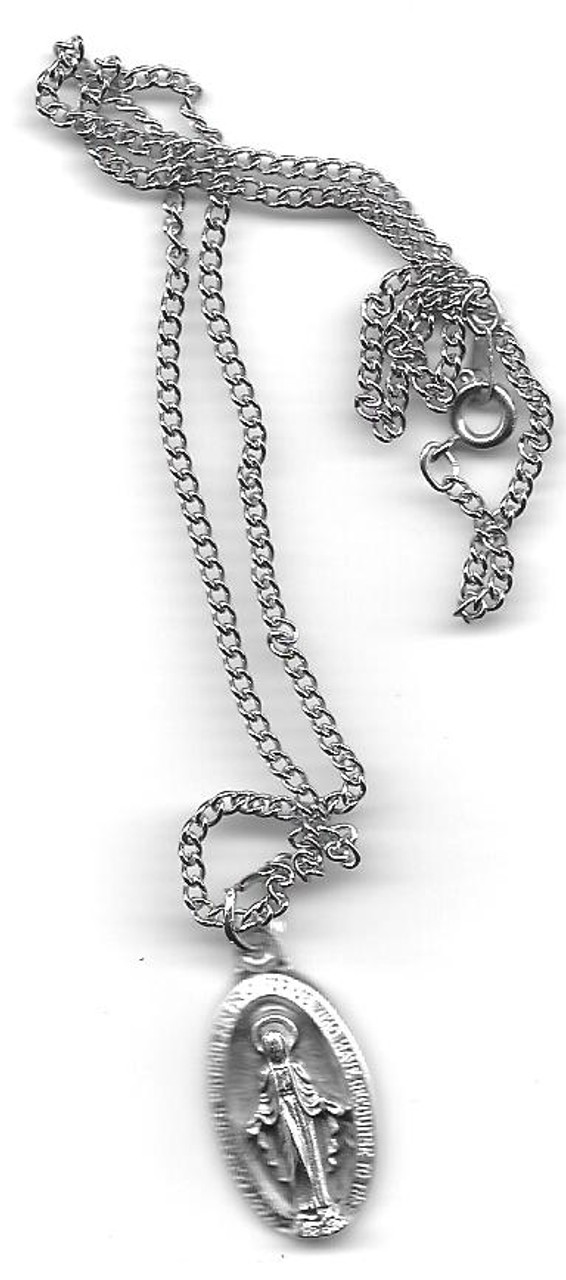 Immaculate Conception With Rays Medal On Chain