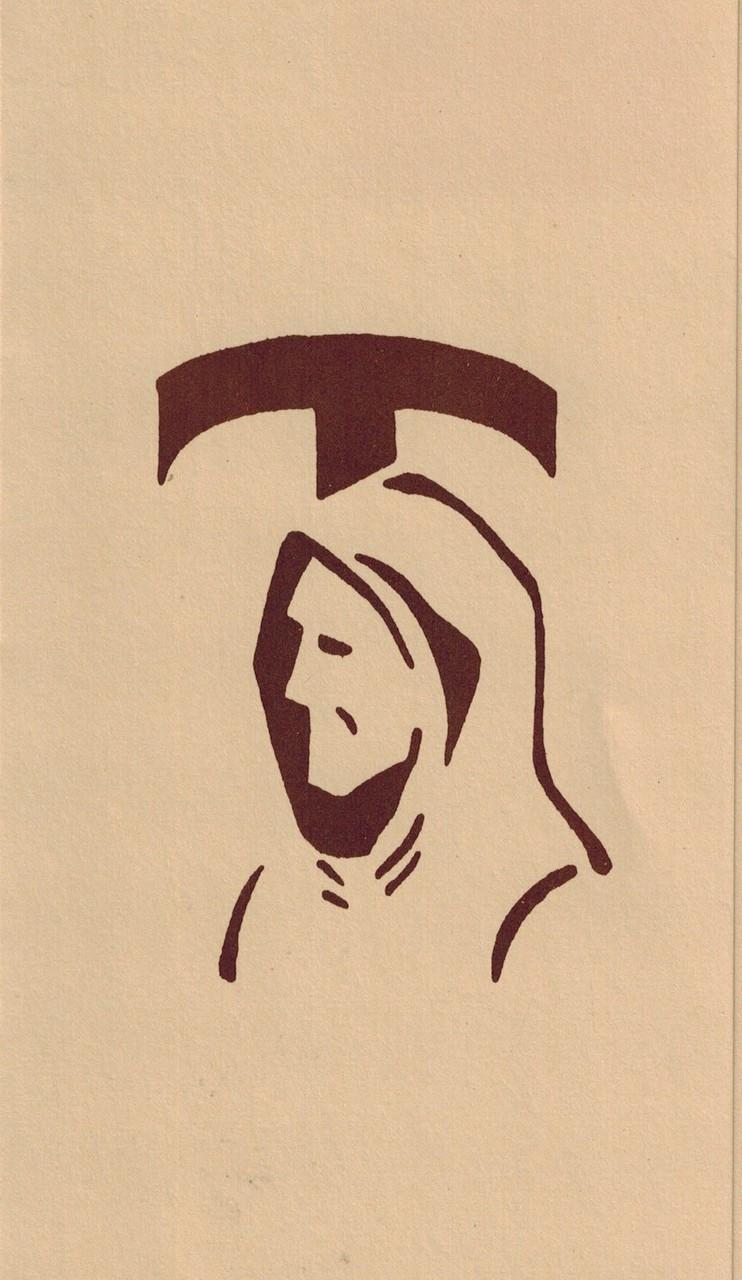 Head of St  Francis blank notecard