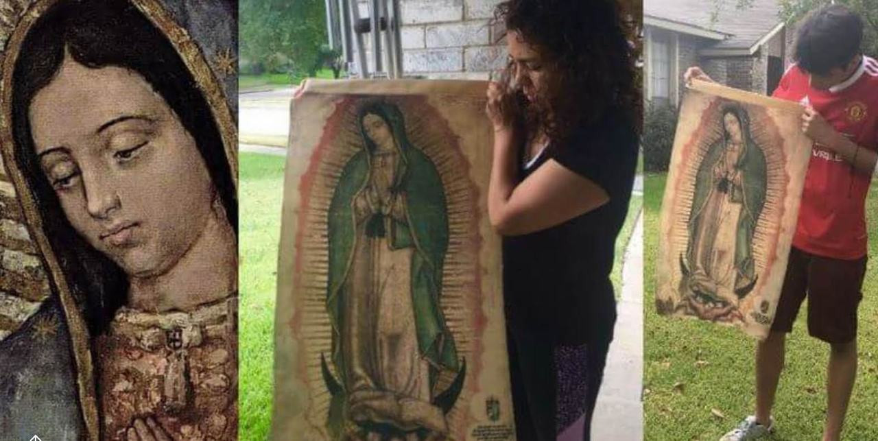 Our Lady of Guadalupe Tilma reproduction, half size of original tilma
