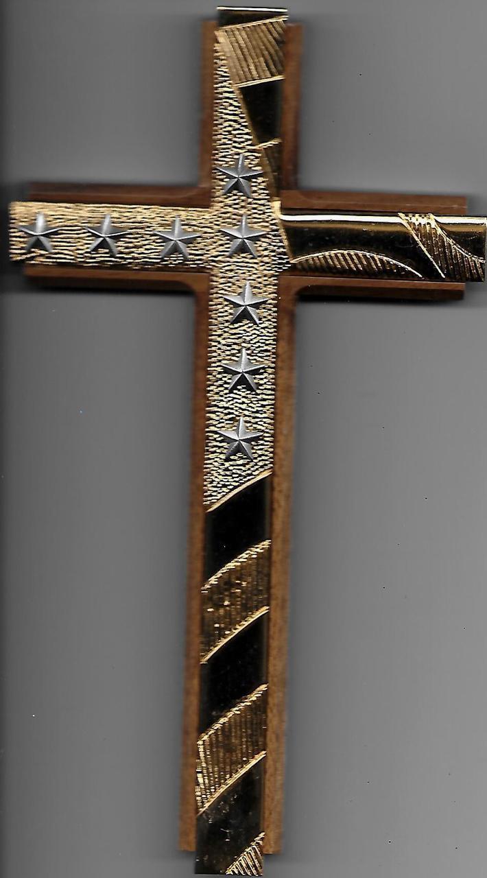 Golden Star Crucifix