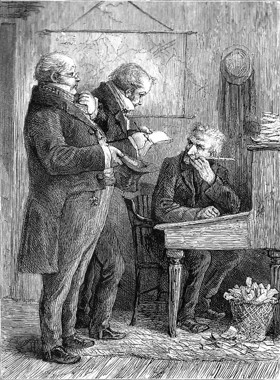 Barnaby Rudge, an original illustration from A Christmas Carol by Charles Dickens