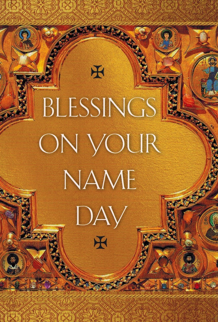 Blessings On Your Name Day Card