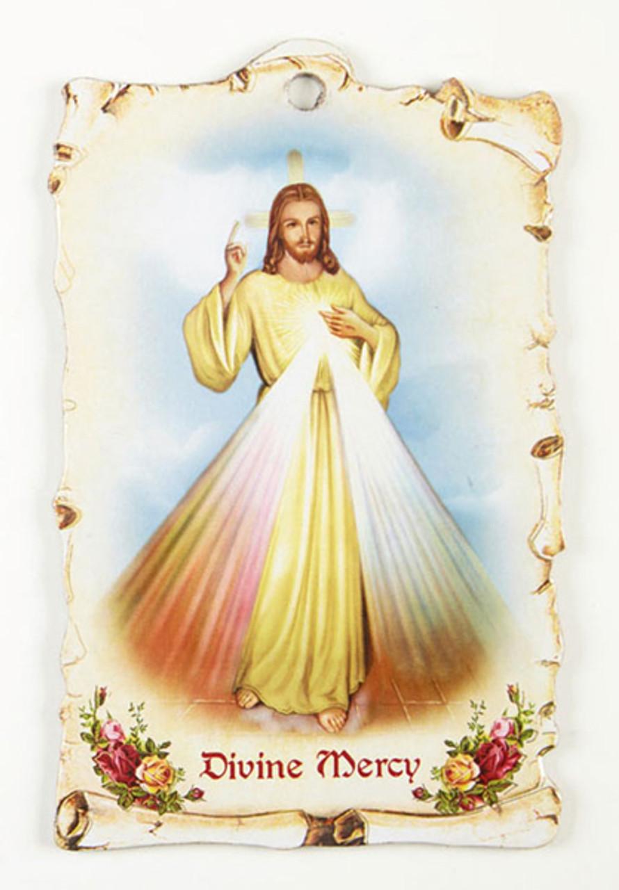 Divine Mercy Saint Plaque
