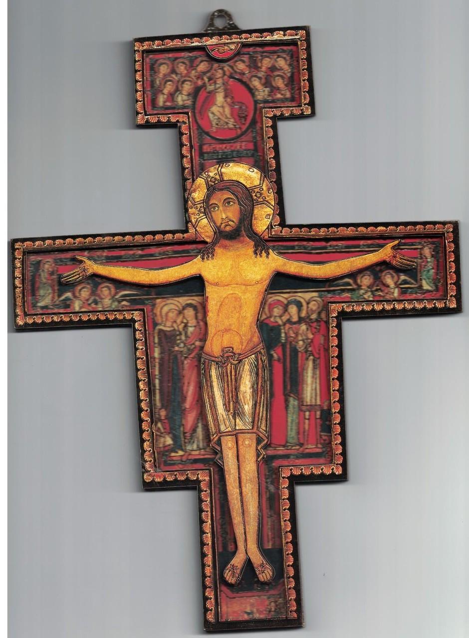 San Damiano 3-D Wall Crucifix 10 Inches