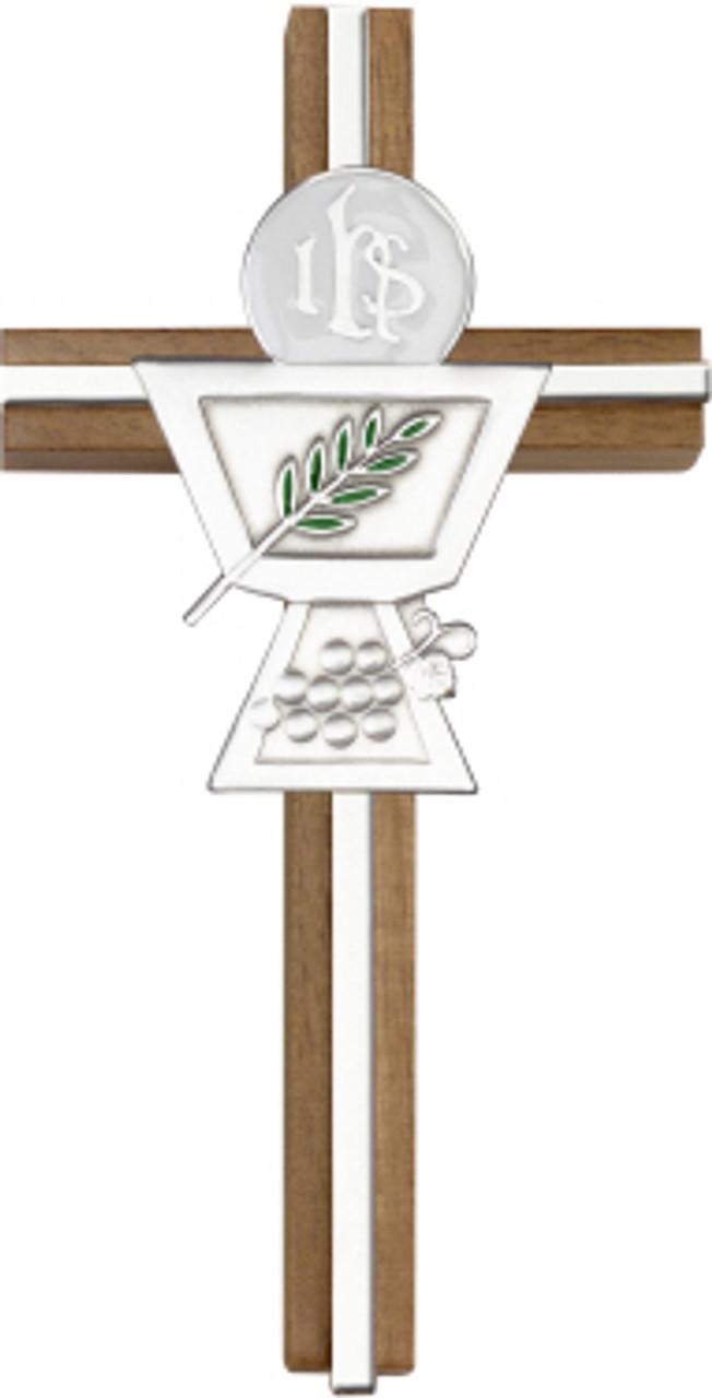Bliss Walnut Communion Chalice Cross