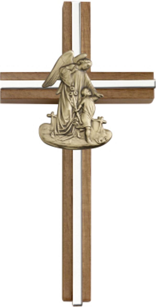 Bliss Walnut Guardian Angel Cross