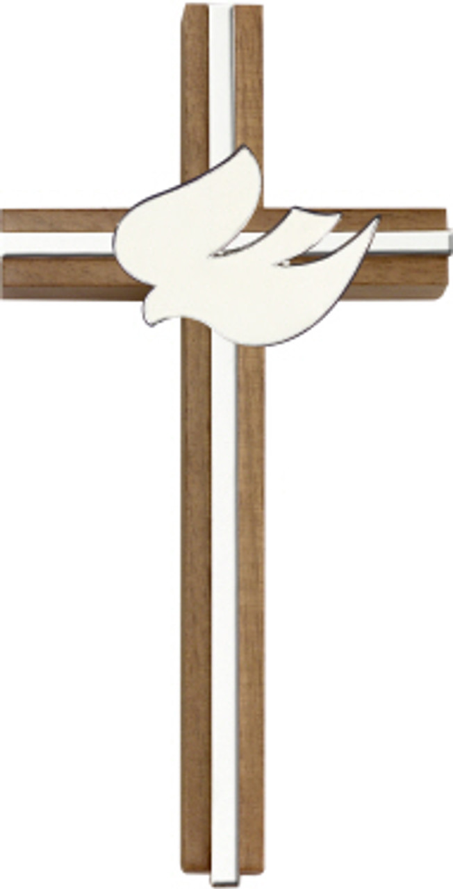 Bliss Walnut Holy Spirit Cross