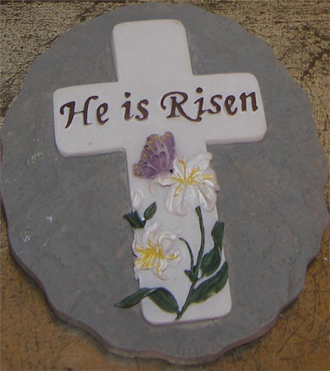 He Is Risen Wall Plaque
