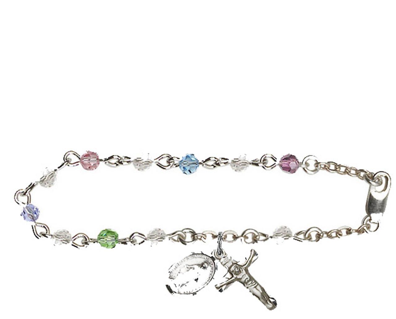 Bliss Swarovski Crystal Rosary Bracelet