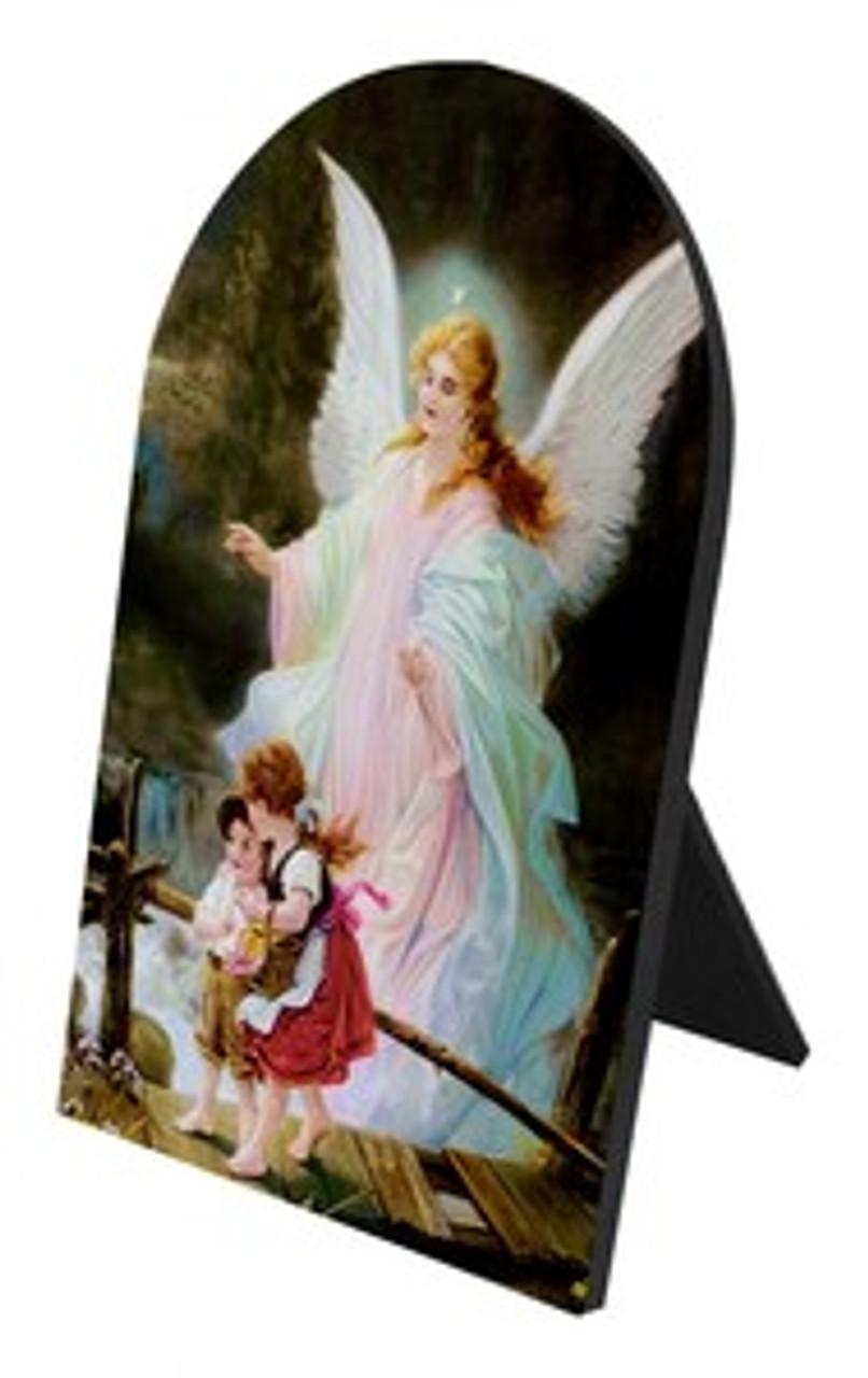 Guardian Angel Arched Desk Plaque II