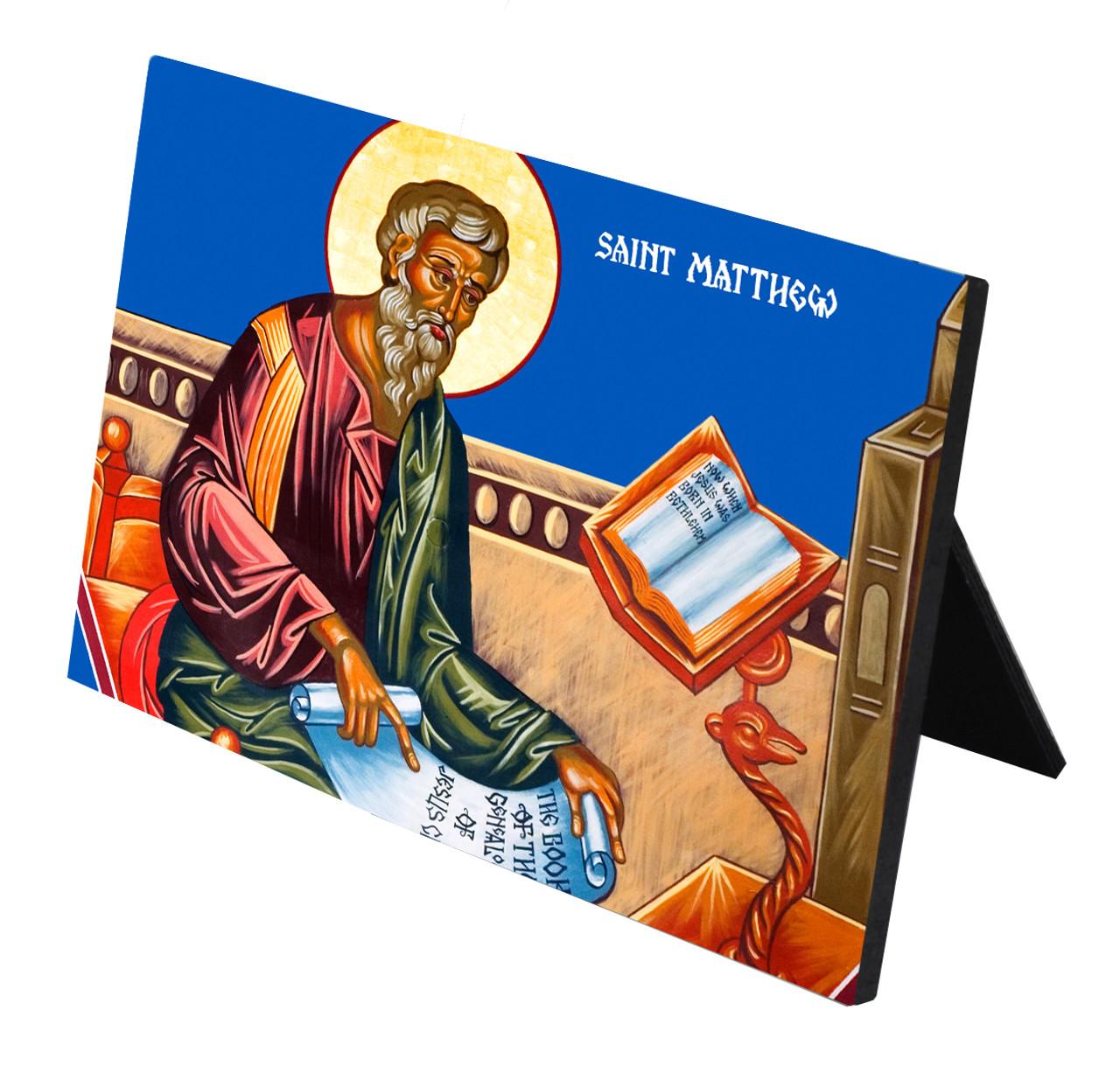 St. Matthew Horizontal Desk Plaque