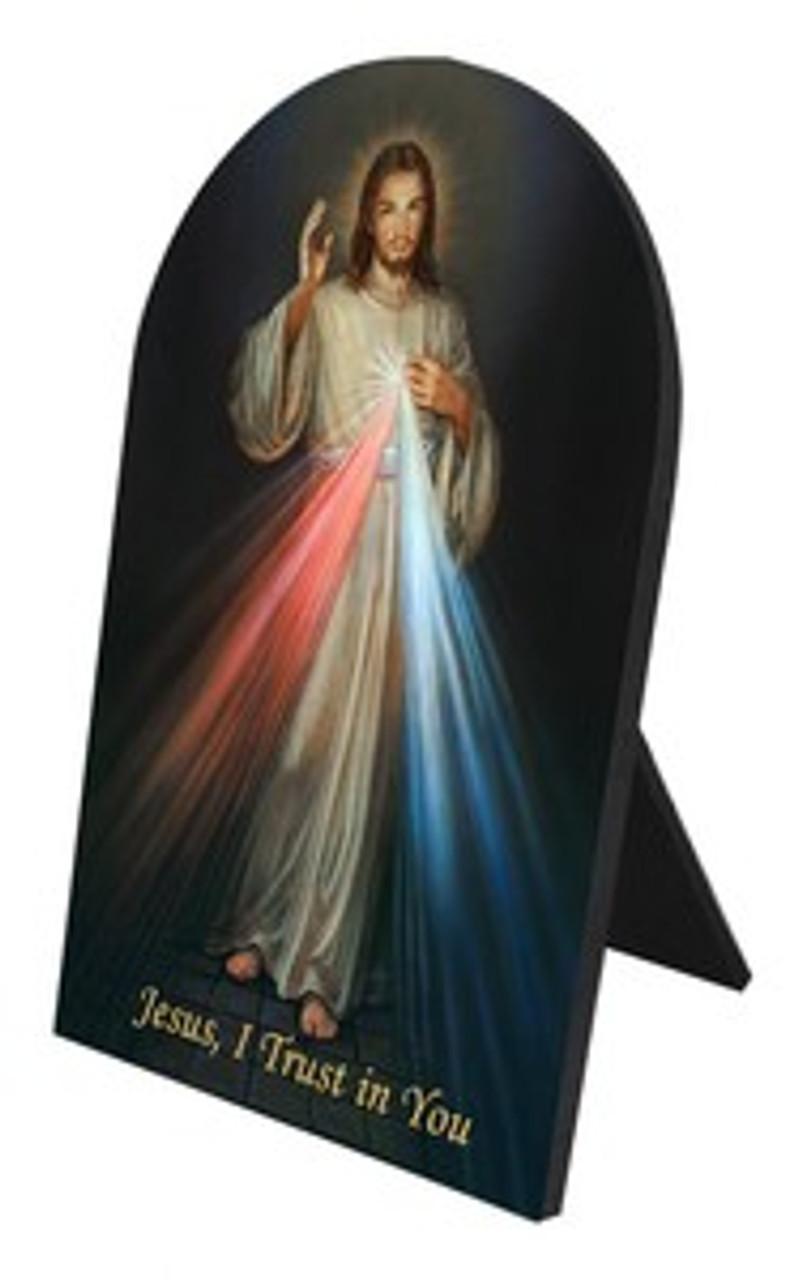 Divine Mercy Arched Desk Plaque
