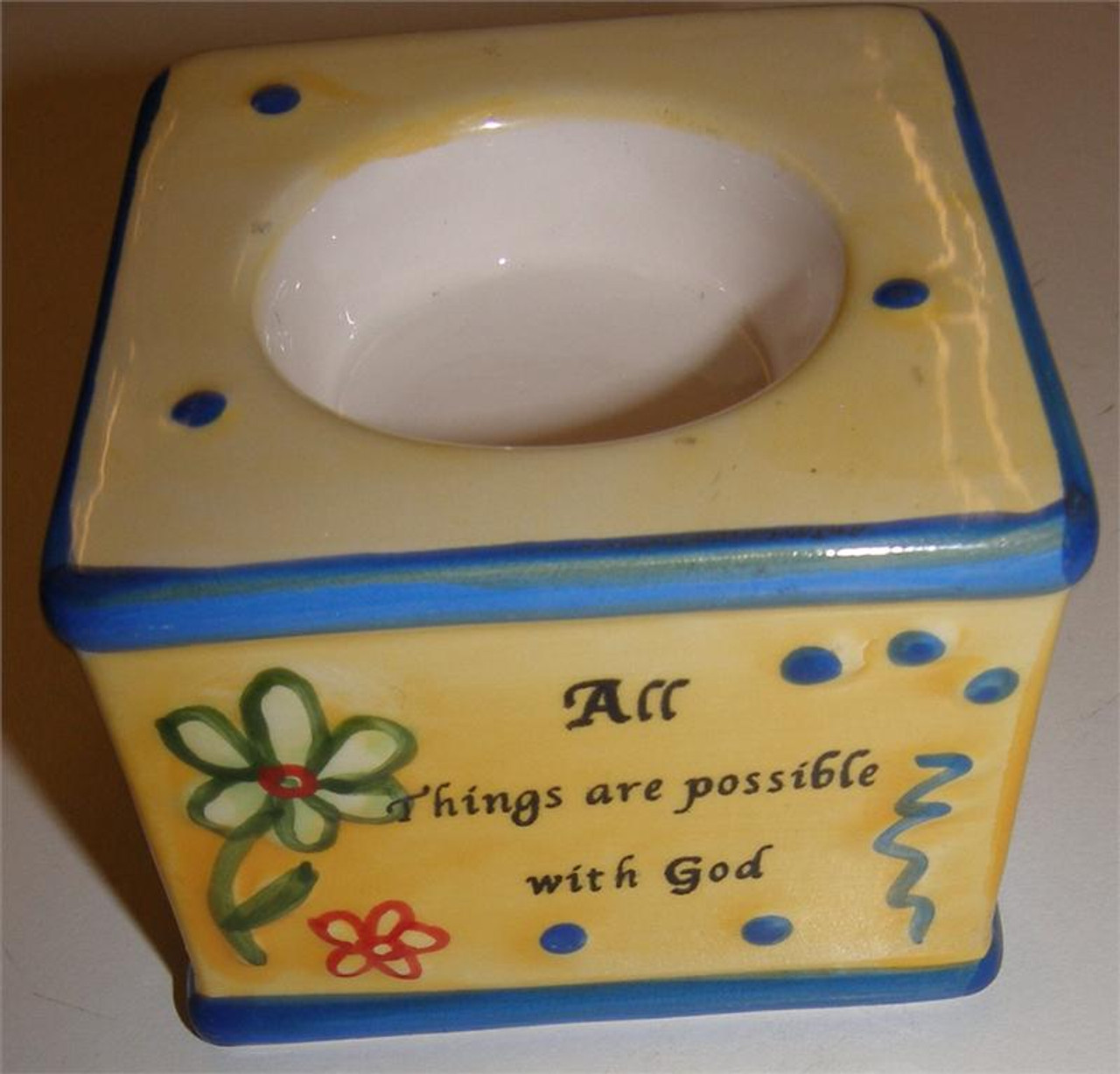 All Things Are Possible With God Candle Holder