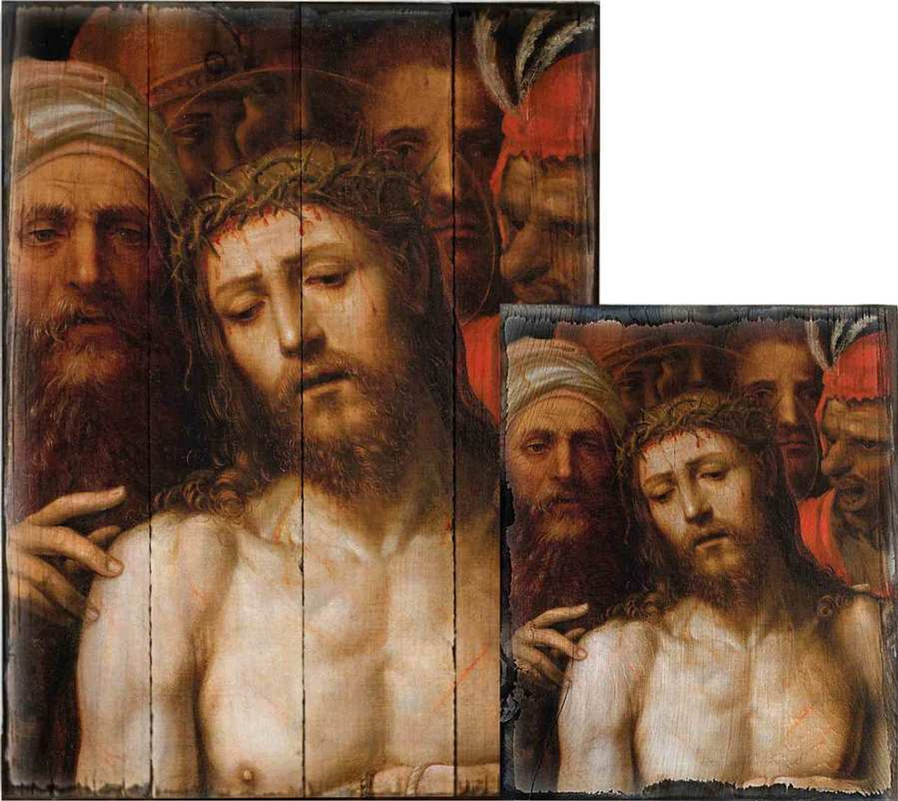 Christ Presented to the People by Il Sodoma Rustic Wood Plaque