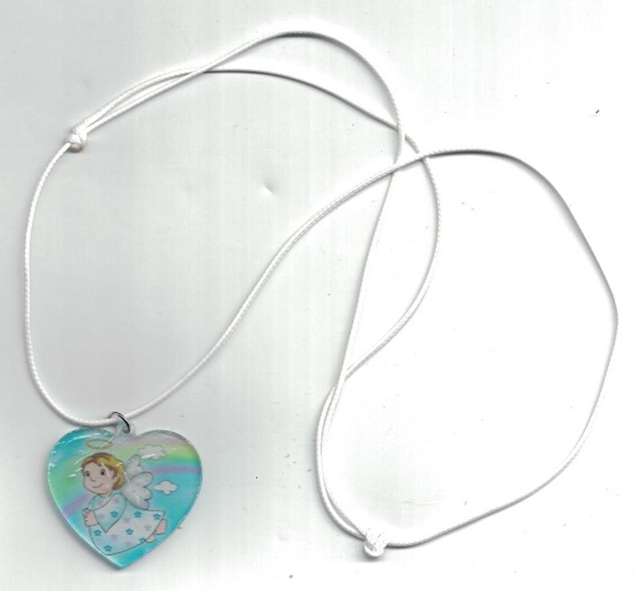 Guardian Angel Heart Pendant