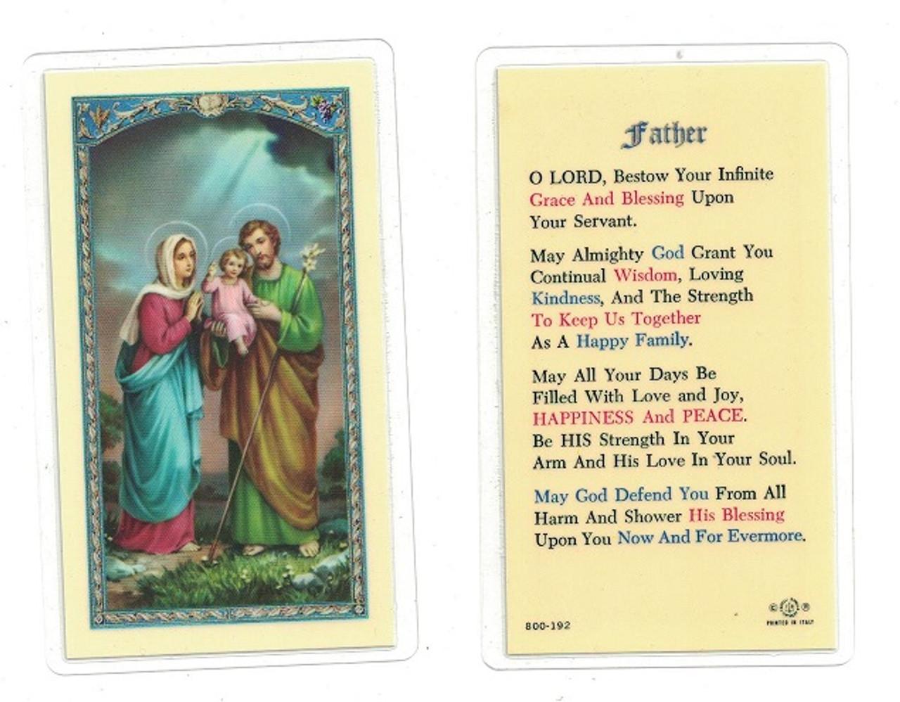 Father Laminated Prayer Card