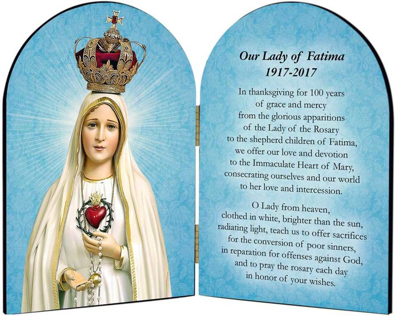 100 Year Anniversary Fatima Arched Diptych