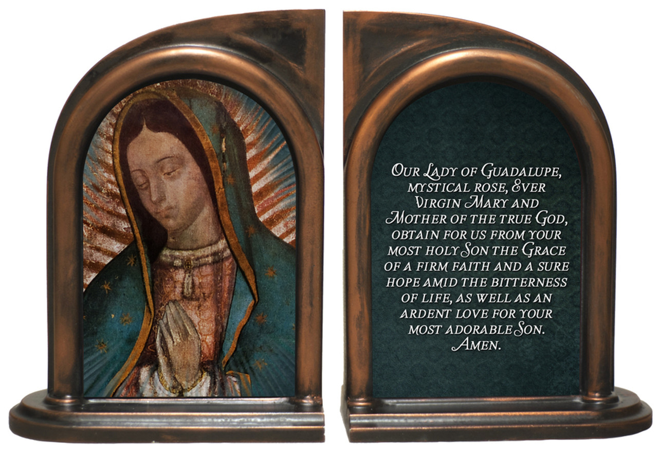 Our Lady of Guadalupe Detail Bookends