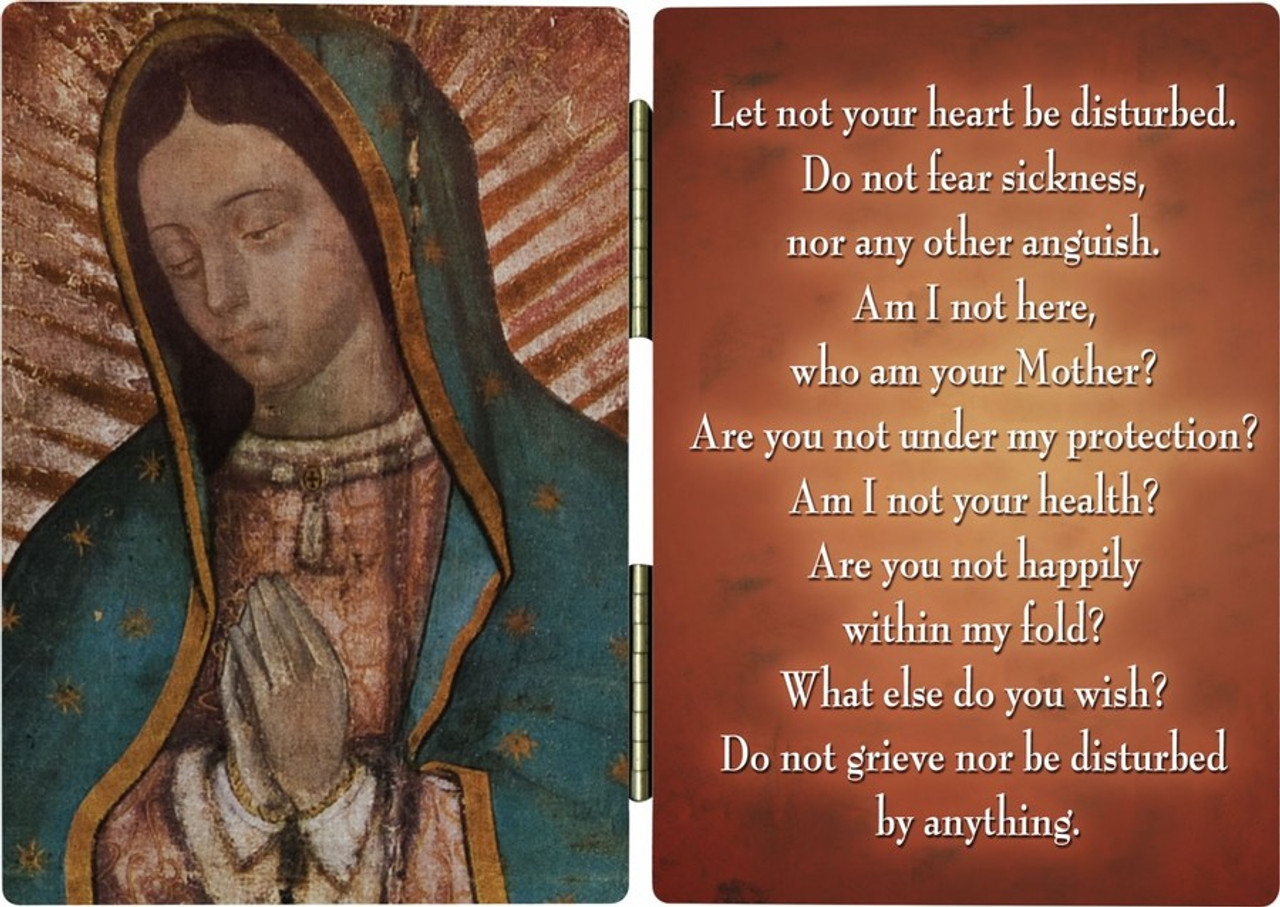 Our Lady of Guadalupe Detail Diptych