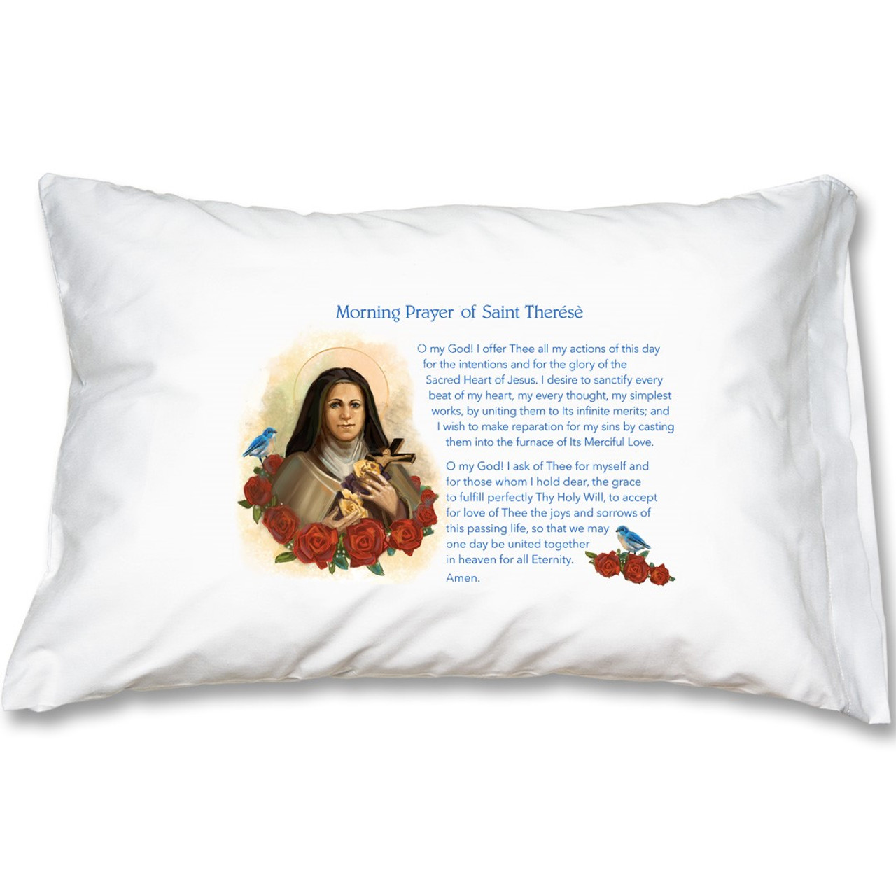 Saint Therese Morning Prayer Prayer Pillowcase