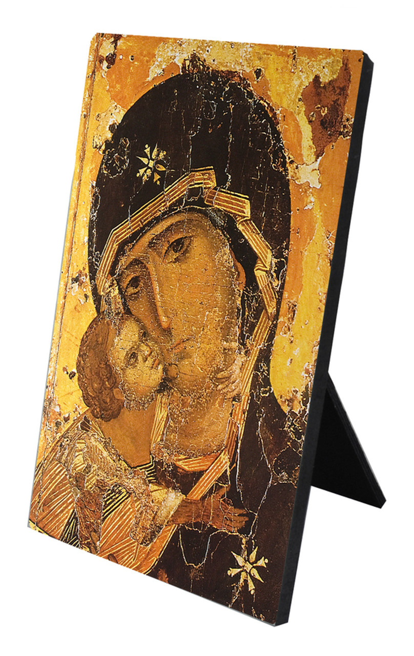 Our Lady of Vladimir Detail Vertical Desk Plaque