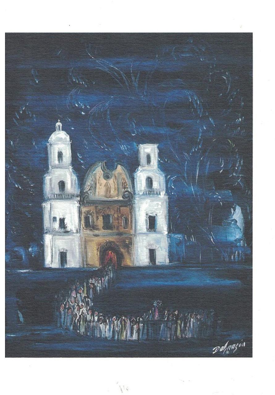 Fiesta At San Xavier Mission Blank Large Card