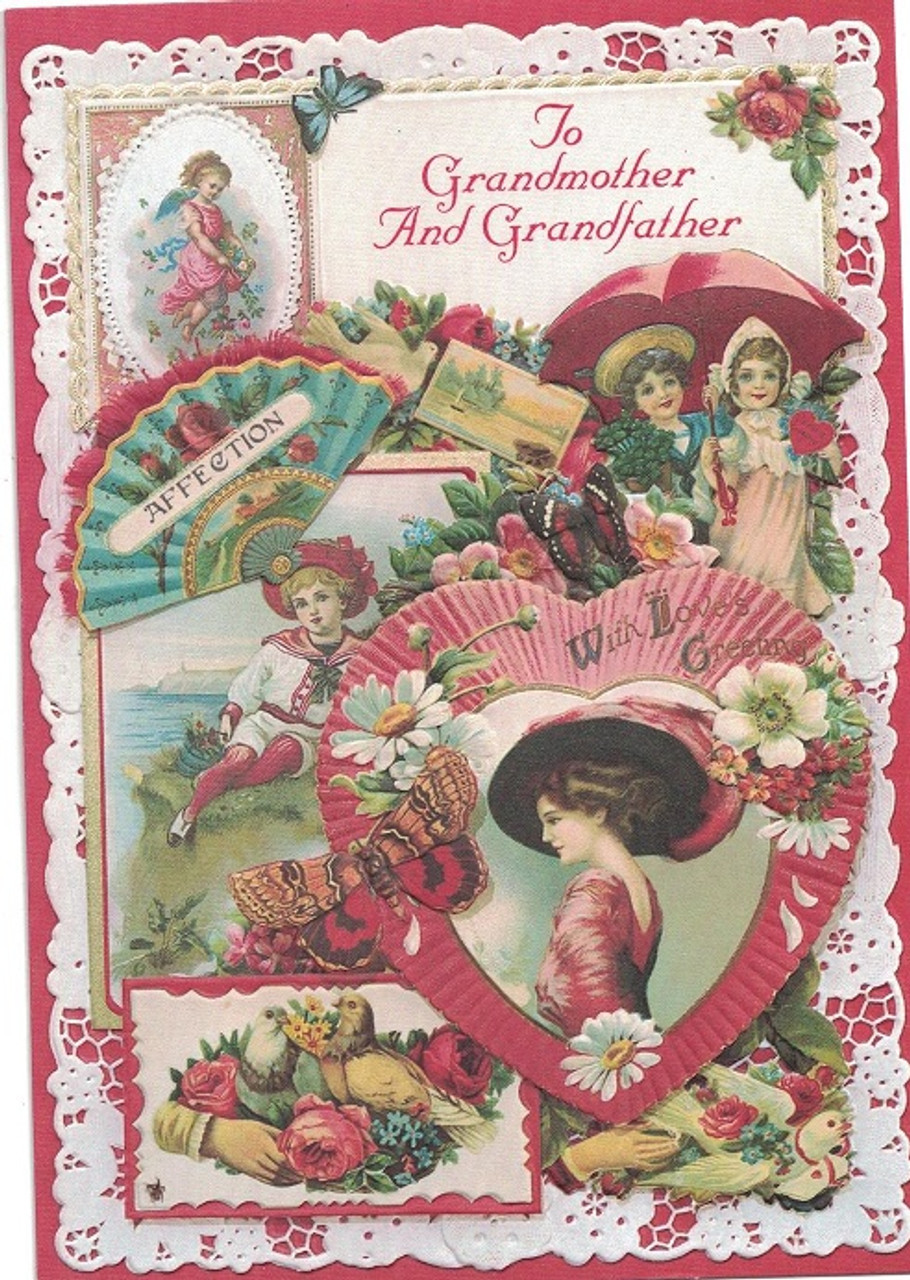 To Grandmother And Grandfather Valentine Card