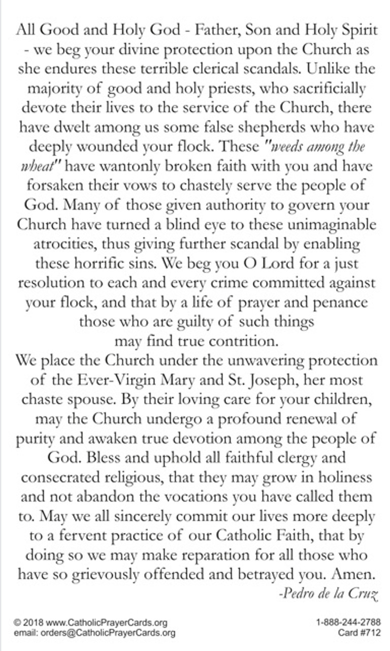Prayer for the Renewal and Sanctification of the Church in Crisis