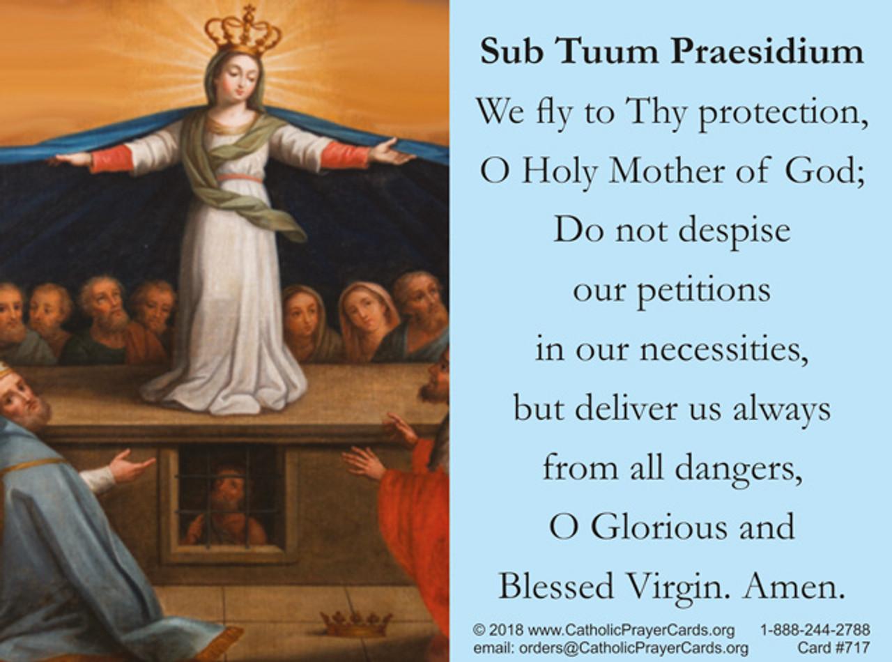 St. Michael and Sub Tuum Praesidium Prayer Card for the Church in Crisis