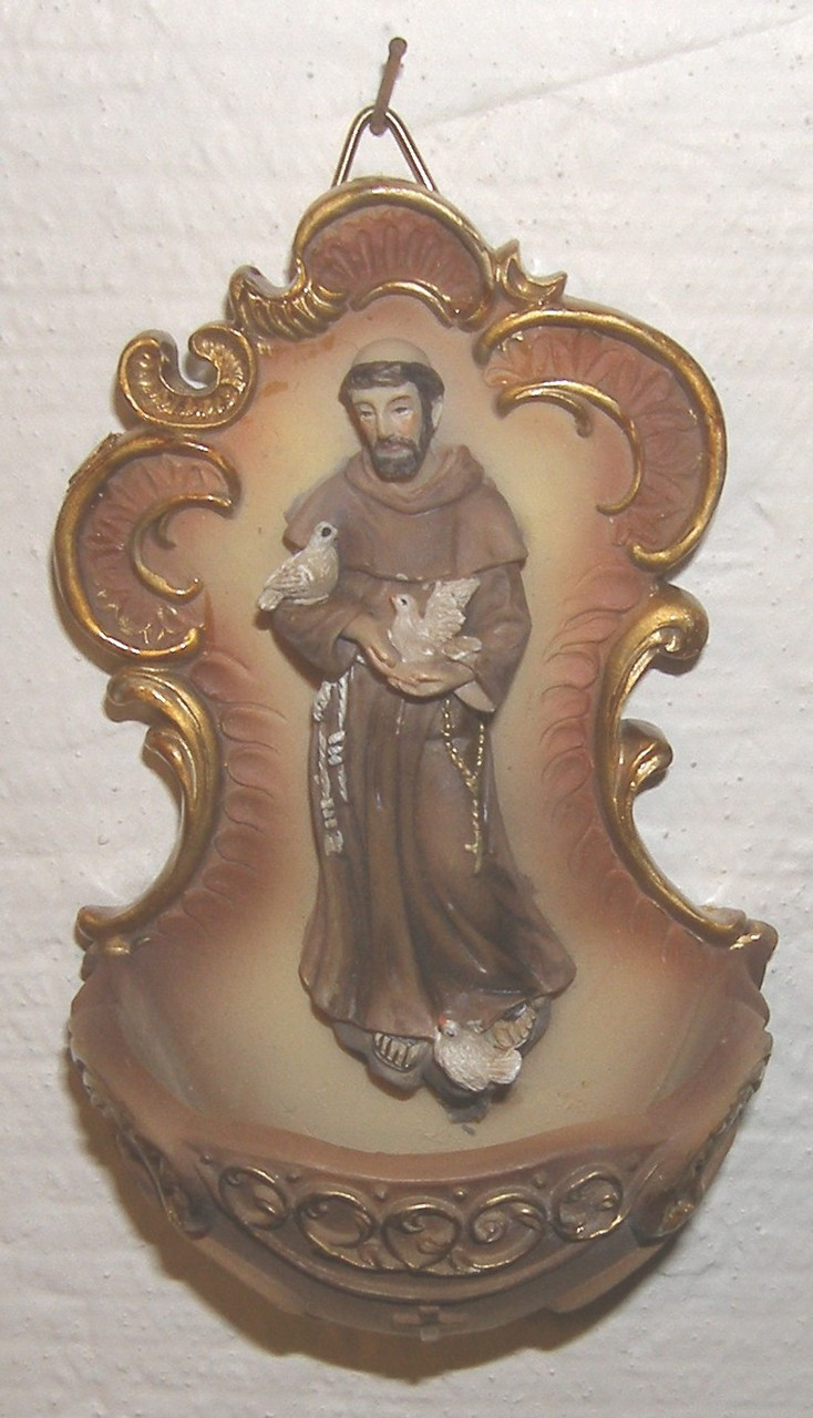 St  Francis Holy Water Font