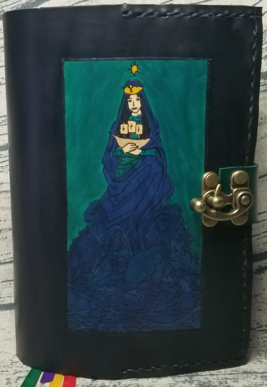 Our Lady Star of the Sea -- Stella Maris -- Hand crafted leather breviary cover
