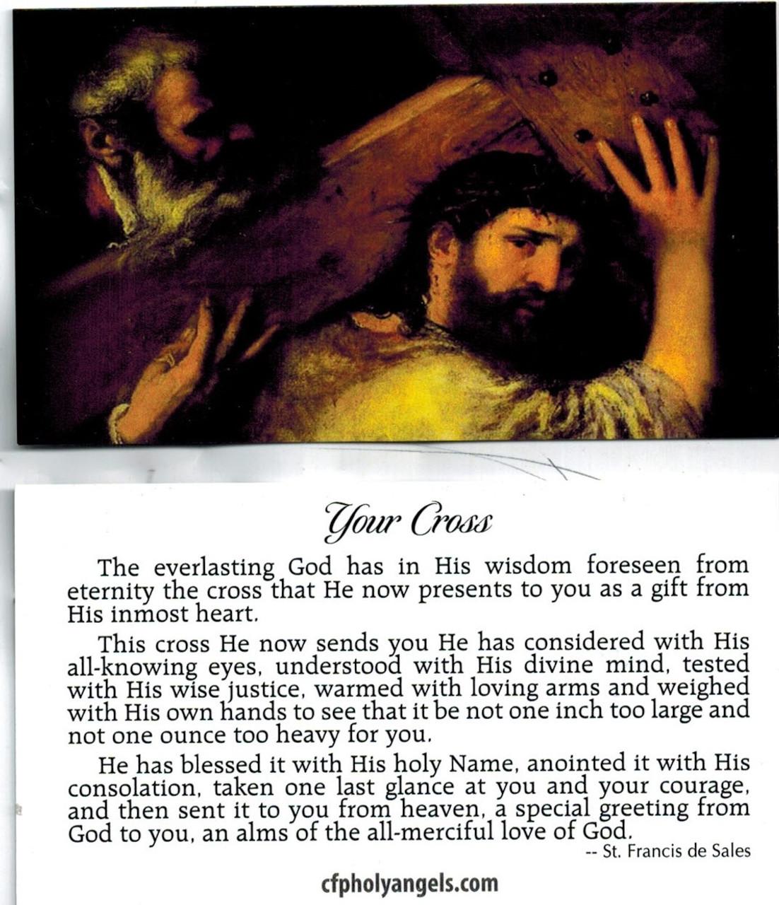 Your Cross Prayer by Saint Francis de Sales