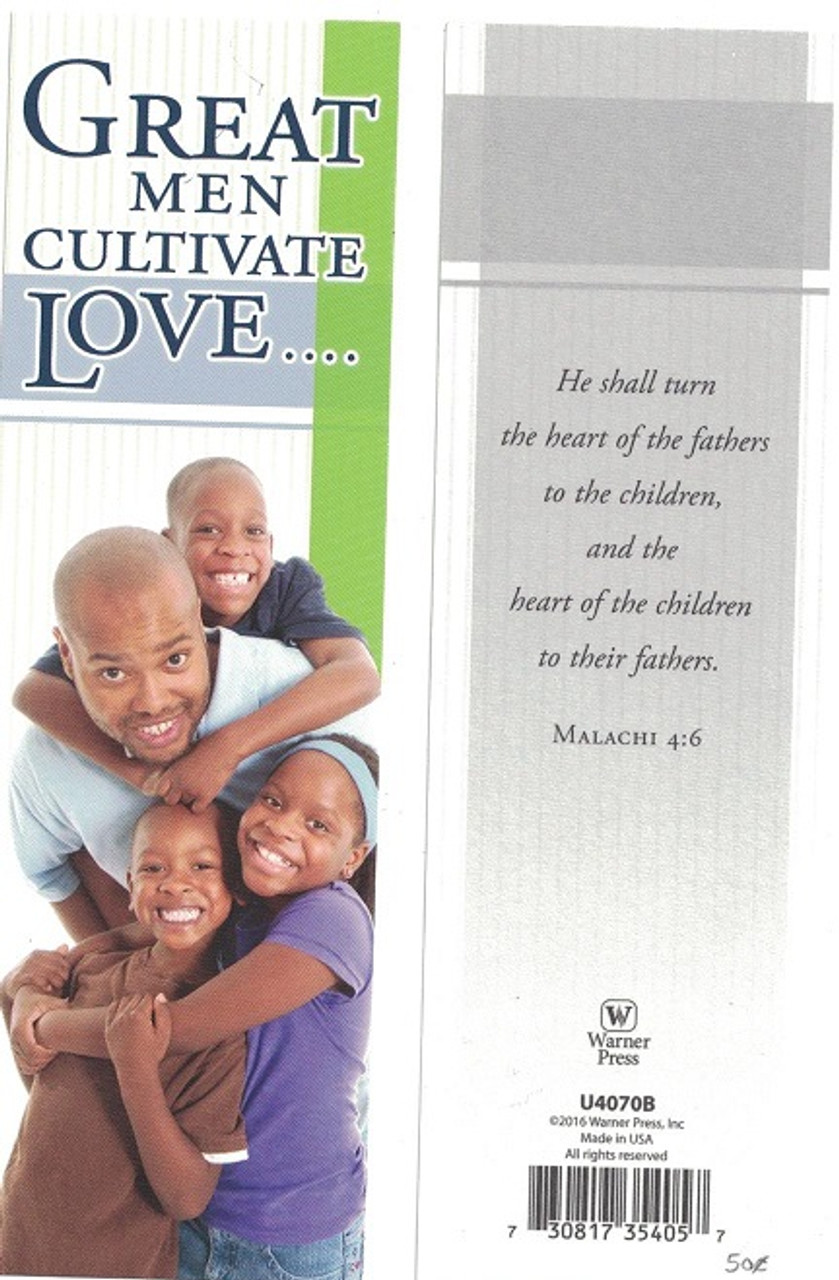 Great Men Cultivate Love Bookmark