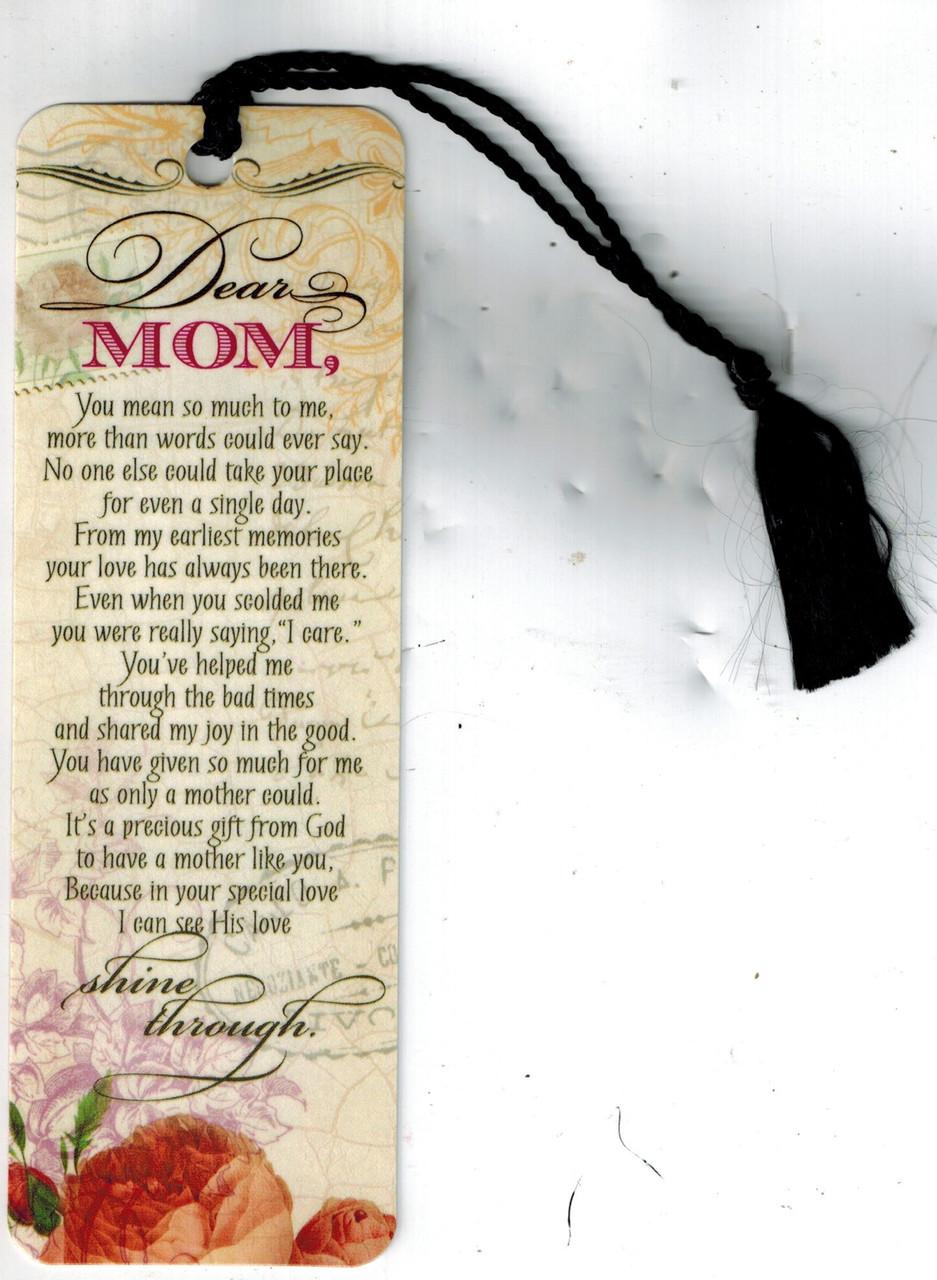 Dear Mom Bookmark