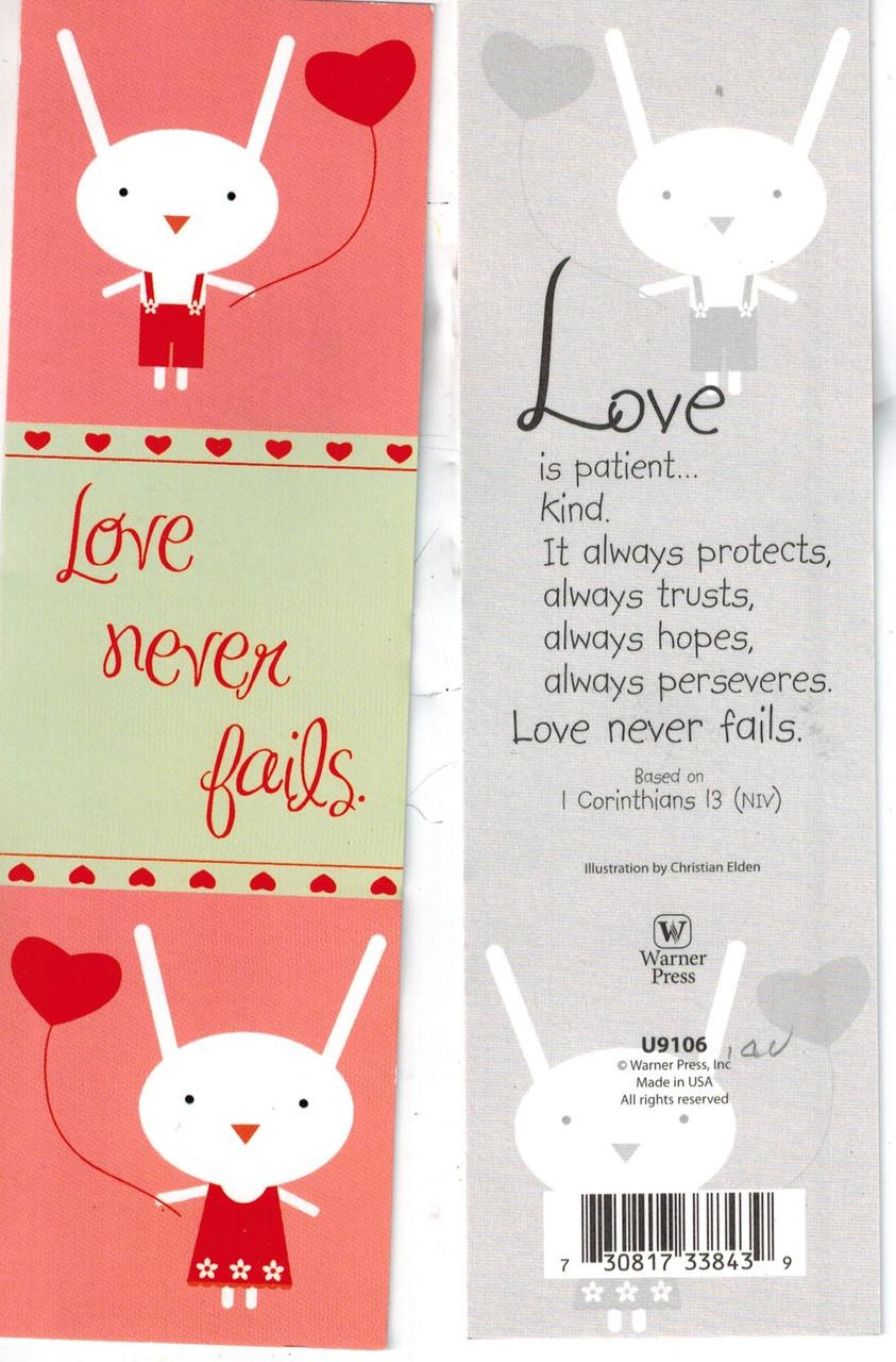 Love Never Fails Bookmark